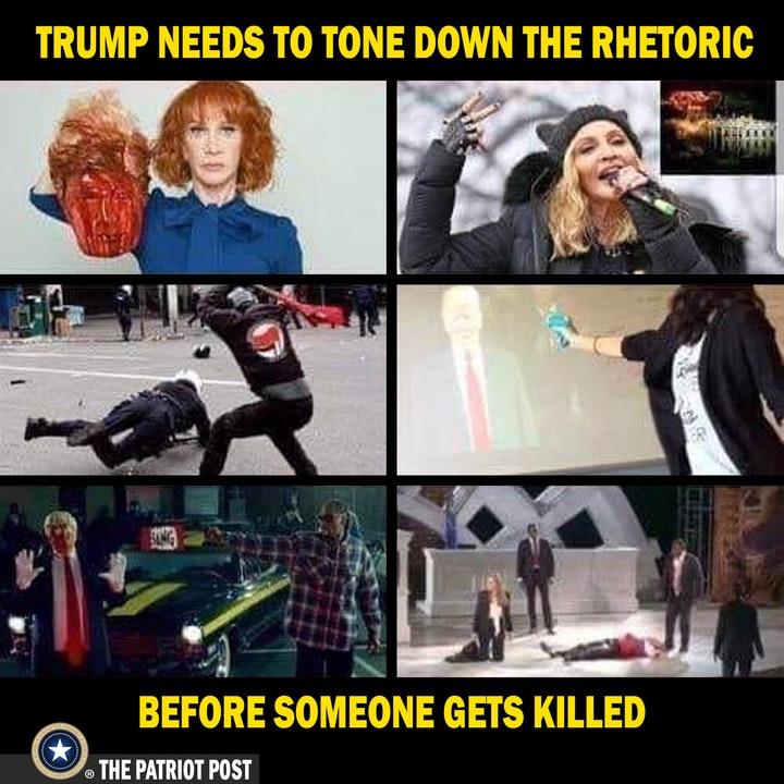 rhetoric tone down